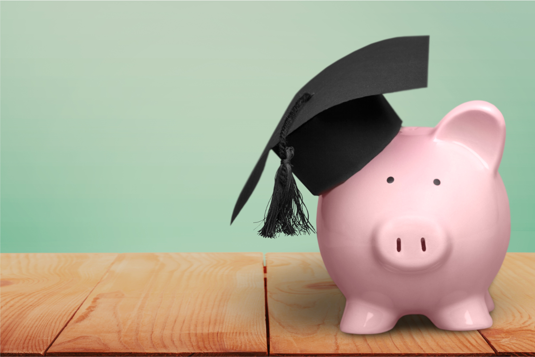 Piggy Bank Wearing Graduation Hat